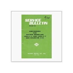 Datsun Baureihe F10 - Service Bulletin