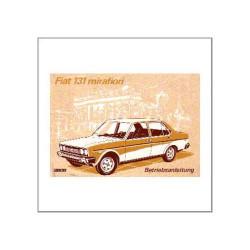 Fiat 131 Mirafiori 1977 - Betriebsanleitung