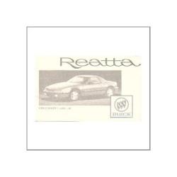 GM Buick Reatta 1989 - Owner's manual