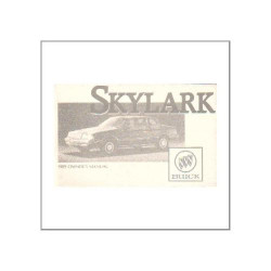GM Buick Skylark 1989 - Owner's manual