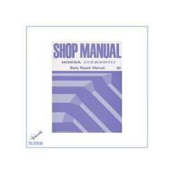 Honda Concerto (89-94) - Werkstatthandbuch Karosserie