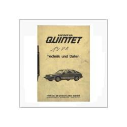 Honda Quintet- Technik & Daten