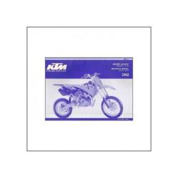 KTM 65 SX (>2002) - Ersatzkatalog Fahrgestell / Motor
