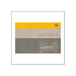 Opel Ascona 1987 - Betriebsanleitung