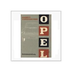 Opel Kadett Caravan 1000 - Betriebsanleitung