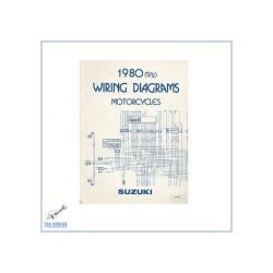 Suzuki 50 ccm bis 1000 ccm Motorräder (80) - Werkstatthandbuch nur Schaltpläne