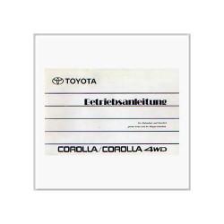 Toyota Corolla Allrad (90>) - Betriebsanleitung