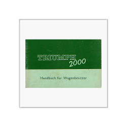 Triumph 2000 (67>) - Betriebsanleitung