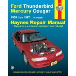 Ford Thunderbird and Mercury Cougar (89 - 97) - Repair Manual Haynes