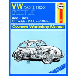 Volkswagen Beetle 1302 , 1,3 / 1,6 Liter (1970 - 1972) Repair Manual Haynes
