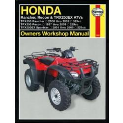 Honda Rancher, Recon, Sportrax, TRX250/350 (97-09) - Repair Manual Haynes