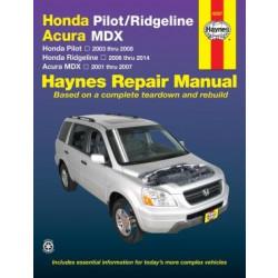 Honda Pilot Ridgeline Acura MDX (01-12) Repair Manual Haynes