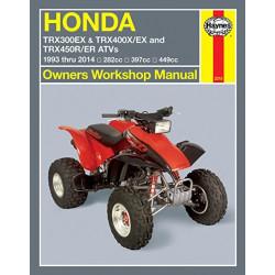 Honda TRX 300 / 400 / 450 EX, X, R, ER (93-14)  Repair Manual Haynes