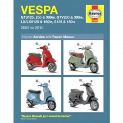 Vespa GTS GTV LX S Roller (05-10) - Repair Manual Haynes