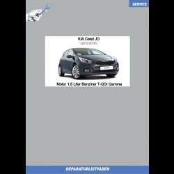 KIA Ceed JD (12-18) Reparaturleitfaden Motormechanik 1,6 L Benziner T-GDI Gamma