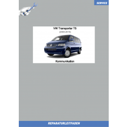 VW Transporter T5 (03-15) Reparaturleitfaden Kommunikation Radio Navi