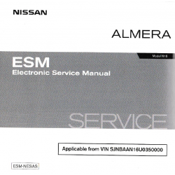Nissan Almera Model N16 Electronic Service Manual