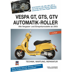 Vespa GT / GTS / GTV Automatik-Roller (2003>) - Reparaturanleitung