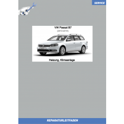 VW Passat B7 (10-14) Reparaturanleitung Heizung, Klimaanlage