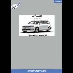 VW Passat B7 (10-14) Reparaturleitfaden 6 Gang-Schaltgetriebe 02S