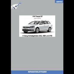 VW Passat B7 (10-14) Reparaturleitfaden 6 Gang Schaltgetriebe 02Q, 0BB und 0FB