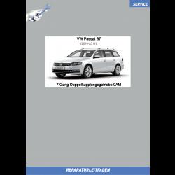 VW Passat B7 (10-14) Reparaturanleitung 7 Gang DSG Doppelkupplungsgetriebe 0AM