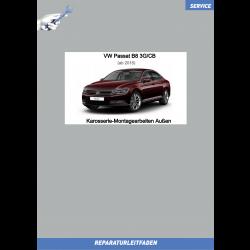 VW Passat B8 (15>) Reparaturleitfaden Karosserie-Montagearbeiten Außen Limousine