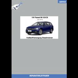 VW Passat B8 (15>) Reparaturleitfaden Kraftstoffversorgung Dieselmotoren