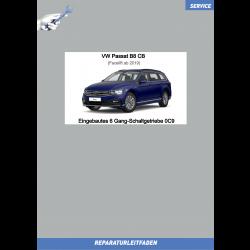 VW Passat B8 (19 ➤) Reparaturleitfaden Eingebautes 6 Gang Schaltgetriebe 0C9