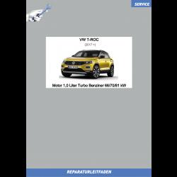 VW T-Roc (17>) Reparaturleitfaden Motor 1,0 Liter EVO Turbo Benziner 66/70/81 kW