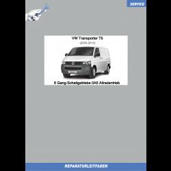 VW Transporter T5 (03-09) Reparaturleitfaden 6 Gang-Schaltgetriebe Allrad 0A5A
