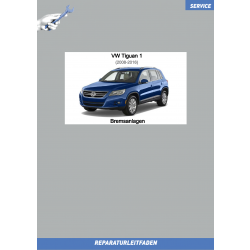 VW Tiguan 1 (07-16) Reparaturleitfaden Bremsanlage