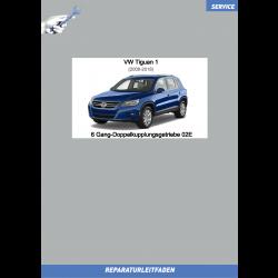 VW Tiguan 1 (07-16) Reparaturanleitung 6 Gang Doppelkupplungsgetriebe DSG 02E