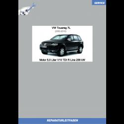 VW Touareg 7L (02-10) Reparaturleitfaden Motor 5,0 Liter V10 TDI R Line 258 kW