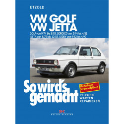 VW Golf 1 / Jetta / Scirocco / Caddy (74-92) Reparaturanleitung Delius 11