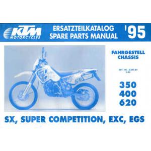 KTM 350 / 400 / 620 SX, SC, EXC, EGS - Ersatzteilkatalog Chassis