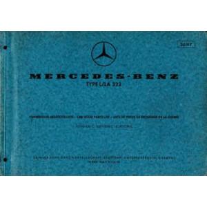 Mercedes L / LA 322 - Fahrerhaus Ersatzteilliste, Parts List