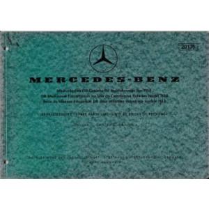 Mercedes Mechanisches DB-Getriebe BM710.0-Ersatzteilliste, Parts List
