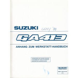 Suzuki Carry GA 413 - Anhang zum Werkstatthandbuch