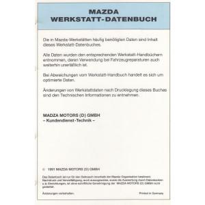 Mazda Werkstatt-Datenbuch 1991