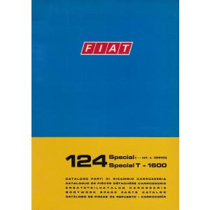Fiat 124 Special Special T - 1600 (1972)  - Ersatzteilkatalog Karosserie
