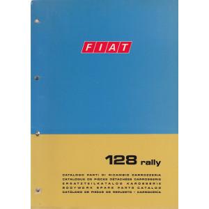 Fiat 128 rally (1972)  - Ersatzteilkatalog Karosserie Version 3a