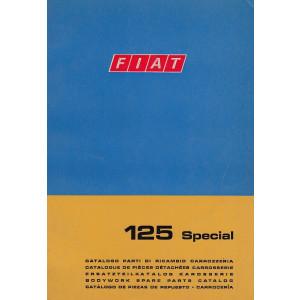 Fiat 125 Special (1968)  - Ersatzteilkatalog Karosserie