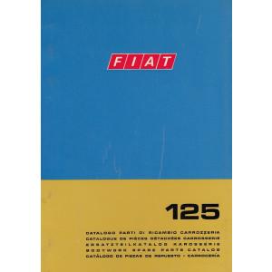 Fiat 125 (1969)  - Ersatzteilkatalog Karosserie