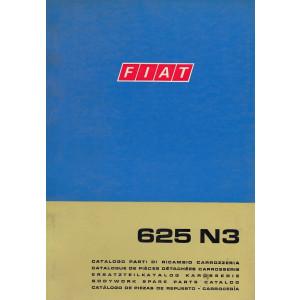 Fiat 625 N3 (1970)  - Ersatzteilkatalog Karosserie
