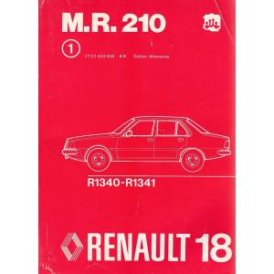 Renault 18 / R18 - R1340-R1341 (1978) - Werkstatthandbuch