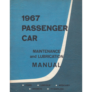 Ford Lincoln Mercury Econoline (1967) - Maintenance Manual Wartungsanleitung