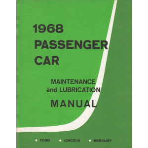 Ford Lincoln Mercury (1968) - Maintenance & Lubrication Manual Wartungsanleitung