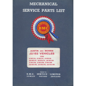 Austin 152 and Morris J2 Van / Pick-Up / Minibus - Ersatzteilkatalog Parts List