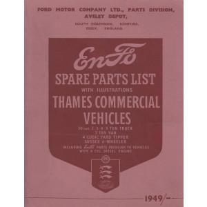 Ford Thames LKW ET6 / ET7 / 500 Series (49- -) - Ersatzteilkatalog